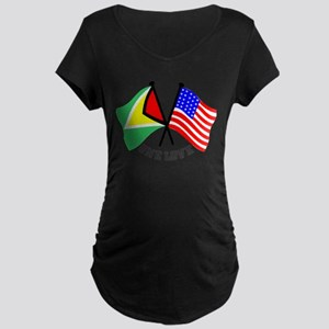 One Love - Guyana/American flag t-shirt Maternity