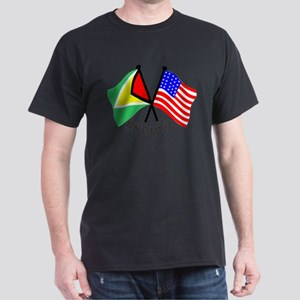 One Love - Guyana/American flag t-shirt Dark T-Shi
