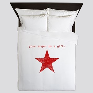YOUR ANGER IS A GIFT Queen Duvet