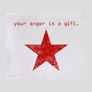 YOUR ANGER IS A GIFT Throw Blanket