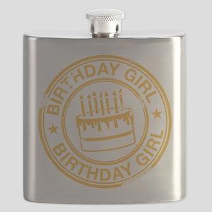 Birthday Girl Yellow Flask