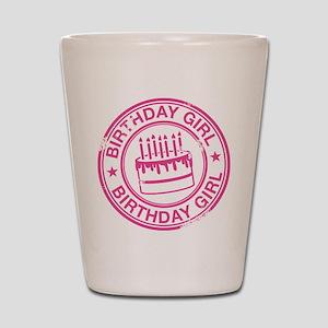 Birthday Girl Hot Pink Shot Glass