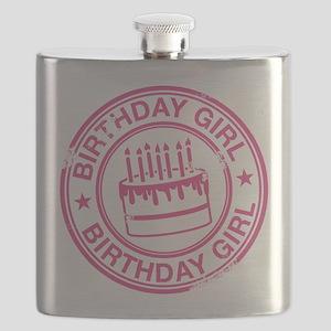 Birthday Girl Hot Pink Flask