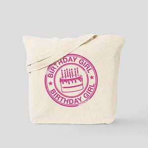 Birthday Girl Hot Pink Tote Bag