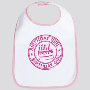 Birthday Girl Hot Pink Bib