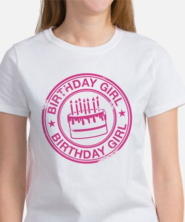 Birthday Girl Hot Pink Women's T-Shirt