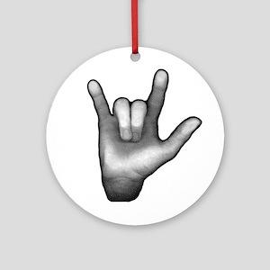 ROCKIN HAND Ornament (Round)