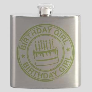 Birthday Girl Green Flask