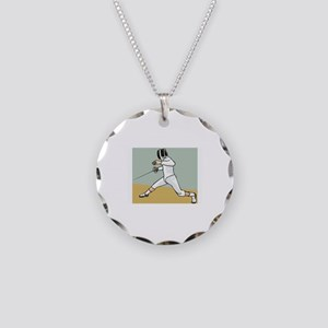 Fencing Necklace Circle Charm