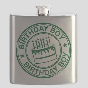 Birthday Boy Dark Green Flask