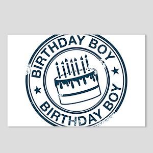 Birthday Boy Dark Blue Postcards (Package of 8)