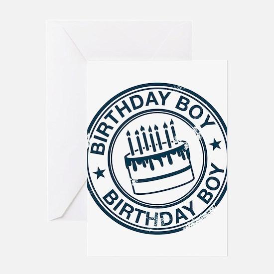 Birthday Boy Dark Blue Greeting Card