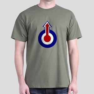 Retro Mod Target and Arrow Design Dark T-Shirt