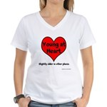Young At Heart Women's V-Neck T-Shirt