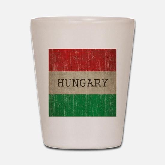 Vintage Hungary Flag Shot Glass