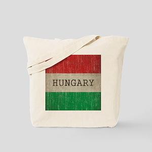 Vintage Hungary Flag Tote Bag