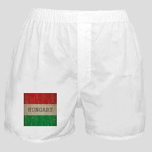 Vintage Hungary Flag Boxer Shorts