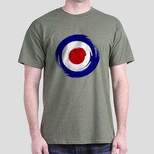 Paint stroke Mod Target design Dark T-Shirt