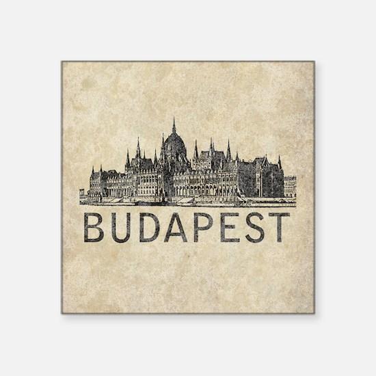"""Budapest Square Sticker 3"""" x 3"""""""