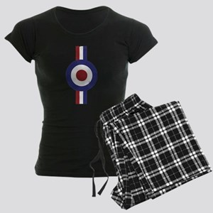 Aged and Faded Mod Target Stripes Women's Dark Paj