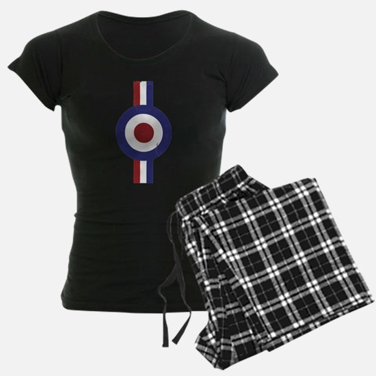Aged and Faded Mod Target Stripes Pajamas