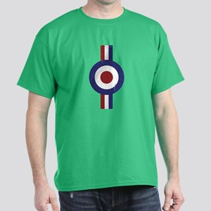 Aged and Faded Mod Target Stripes Dark T-Shirt