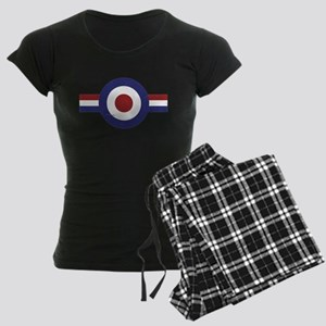 Aged Faded mod target and stripes Women's Dark Paj