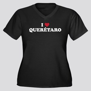 I Love Queretaro Women's Plus Size V-Neck Dark T-S