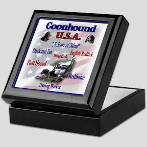 Coonhound Gifts Keepsake Box