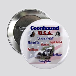 "Coonhound Gifts 2.25"" Button (10 pack)"