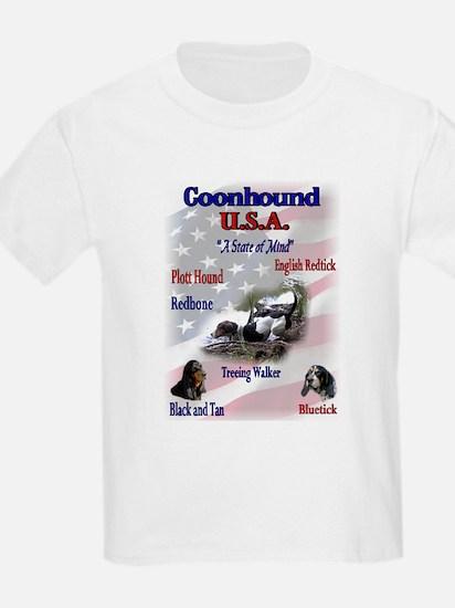 Coonhound Gifts Kids T-Shirt
