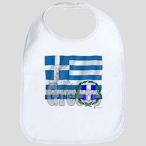 Silky Flag of Greece Bib
