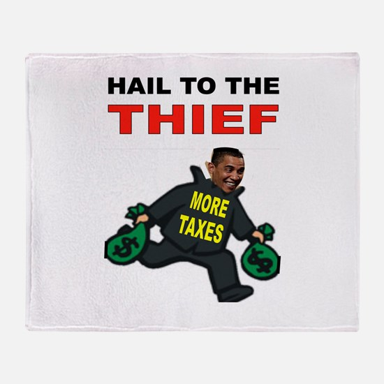 OBAMA THIEF Throw Blanket