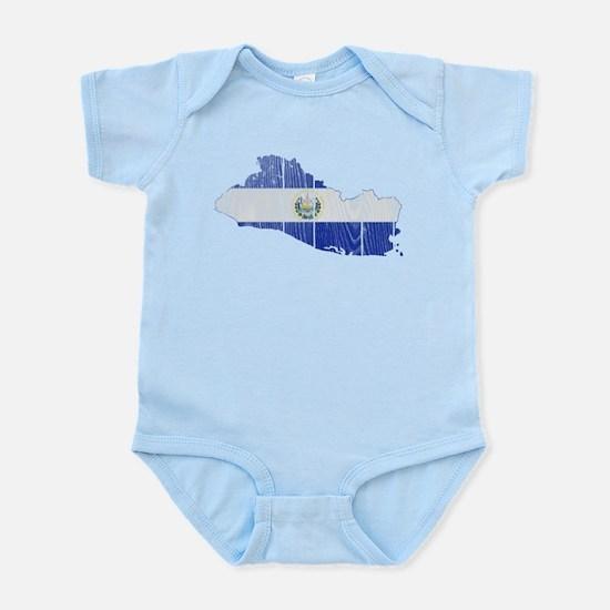 El Salvador Flag And Map Infant Bodysuit