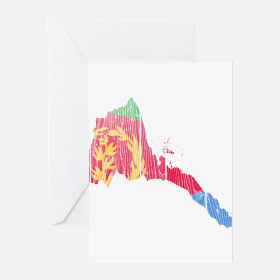 Eritrea Flag And Map Greeting Card