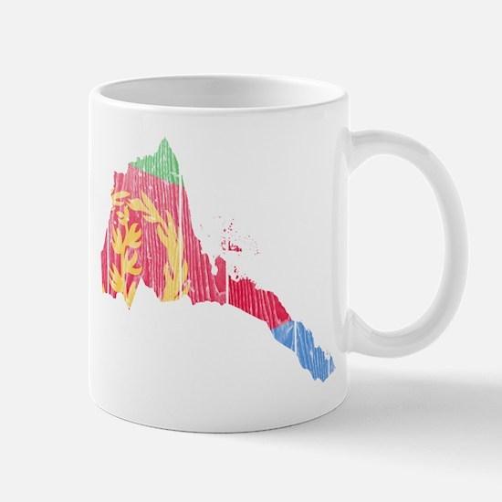 Eritrea Flag And Map Mug