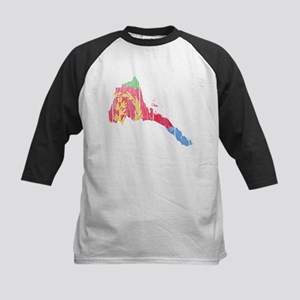 Eritrea Flag And Map Kids Baseball Jersey