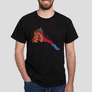 Eritrea Flag And Map Dark T-Shirt