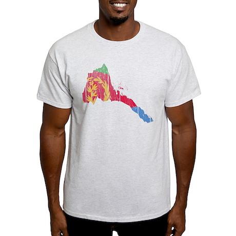Eritrea Flag And Map Light T-Shirt