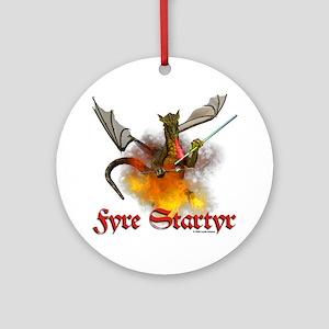 "Dragon Lampworker - ""Fyre Sta Ornament (Round)"