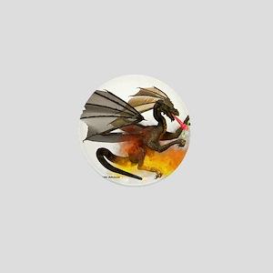 Dragon Lampworker - Side View Mini Button