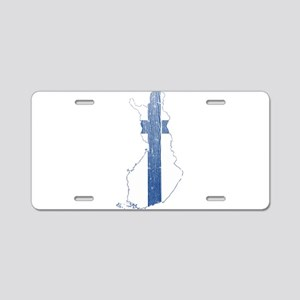 Finland Flag And Map Aluminum License Plate