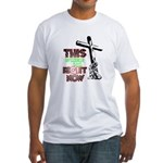 This is where I am Right Now Fitted T-Shirt