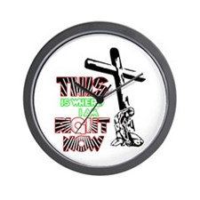 This is where I am Right Now Wall Clock