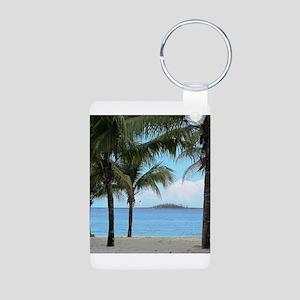 Nassau Bahamas Palms and Lighthouse Aluminum Photo