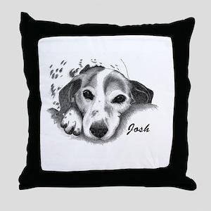 JANINE -JOSH d Throw Pillow