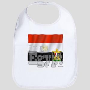 Silky Flag of Egypt Bib