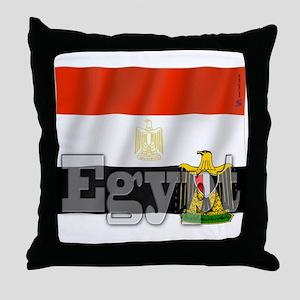 Silky Flag of Egypt Throw Pillow