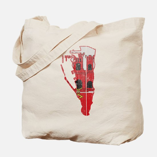 Gibraltar Flag And Map Tote Bag