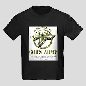 A Soldier in God's Army Kids Dark T-Shirt